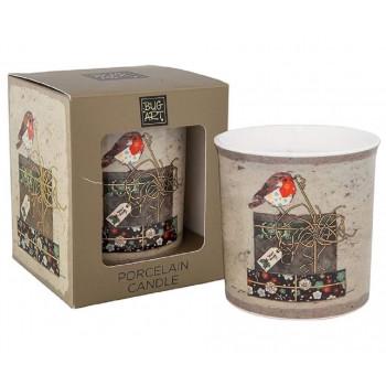 Bug Art Robin Design Porcelain Candle