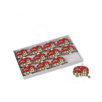 Christmas Caravan Christmas Card Pegs