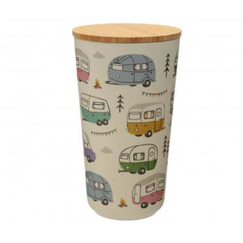 Wildwood Caravan Park Bamboo Composite Large Round Storage Jar