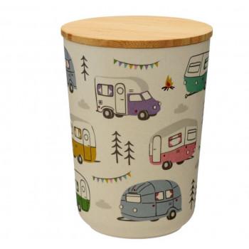 Wildwood Caravan Park Bamboo Composite Medium Round Storage Jar