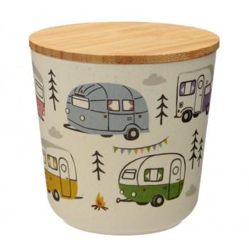 Wildwood Caravan Park Bamboo Composite Small Round Storage Jar