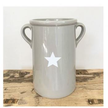 Grey Tall Vase