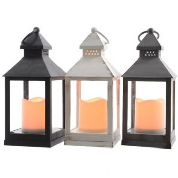 LED Lanterns 22.5cm (Set of 3)