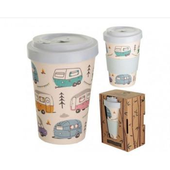 Wildwood Caravan Park Design Bamboo Travel Mug