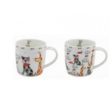 Assorted Dog Illustrated Mug