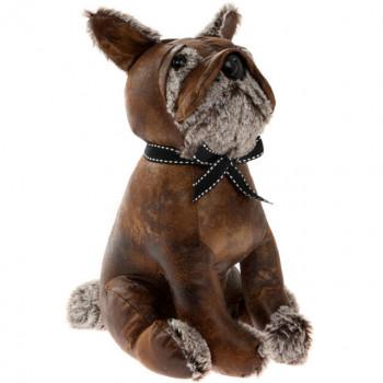 Bulldog Doorstop (faux leather)