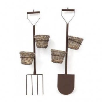 Fork & Spade Design Double Planters 85cm
