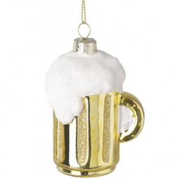 Jug of Beer Glass Hanging Decoration 9cm