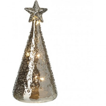 LED Glass Tree Decoration 15cm