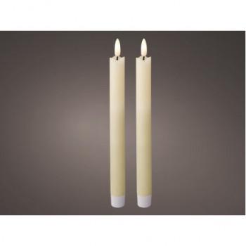 LED Dinner Candles 24cm (Box of 2)