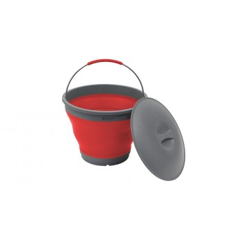 Outwell Collaps Bucket With Lid Red