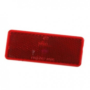 R118 Rectangle Reflector Red
