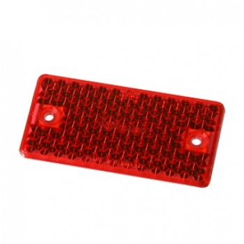 R115 Rectangle Reflector Red