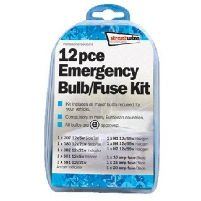 12 Piece Emergency Bulb and Fuse Kit