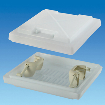 400 x 400mm Rooflight Dome With Handles White