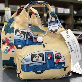 Eco-Chic Foldable Handy Shopper Bag - Caravans