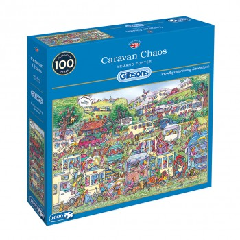 Gibsons Caravan Chaos Jigsaw (1000pc)