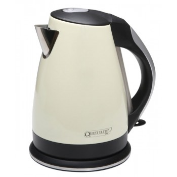 Quest 1.7L Low Wattage Cream Stainless Steel Kettle
