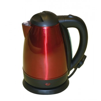 Quest Elite 1.7 litre Stainless Steel Kettle in Red
